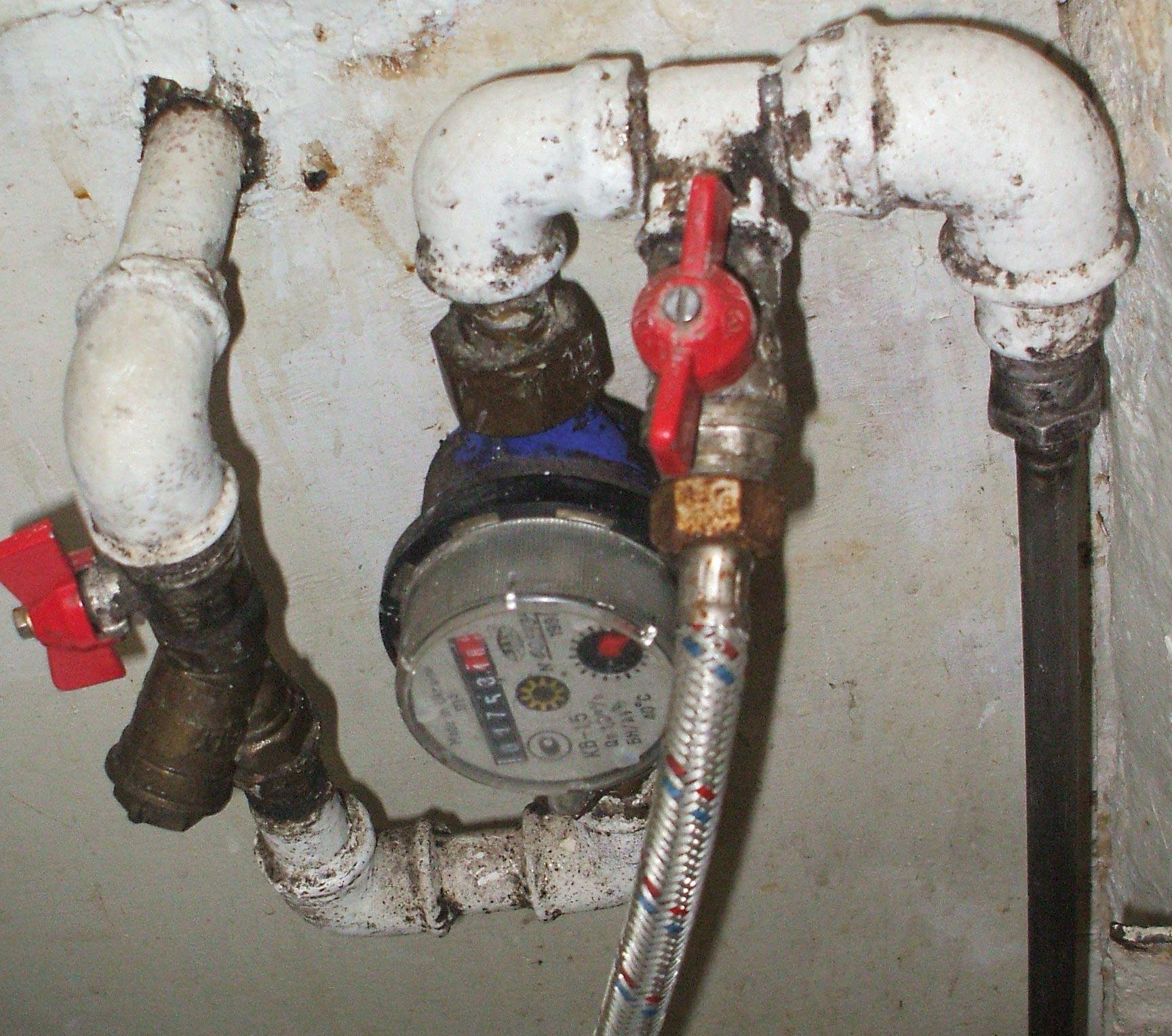 схема установки счетчиков водоснабжения